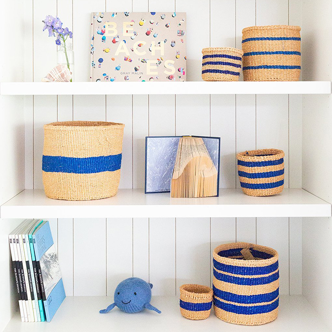 Little Market Striped Sisal Nesting Baskets